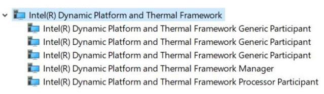 Intel Dynamic Platform and Thermal Framework v