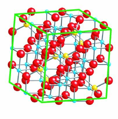is created by 6 oxygen atoms (see Figure 2.17). In the unit cell there are 8 tetrahedral sites and 16 octahedral sites [28].