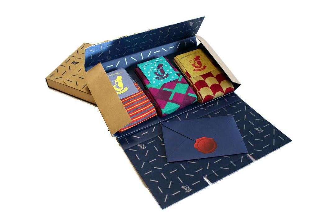 E-COMMERCE Gift e-commerce packaging from Gentlemen s socks club of Ponožkovice set of the socks and