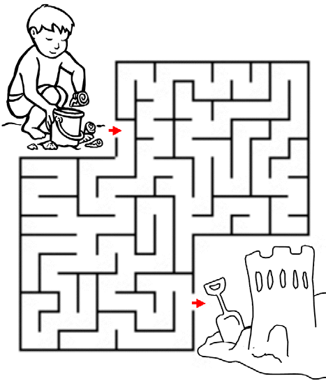 2. Summer at the Beach Maze: help the