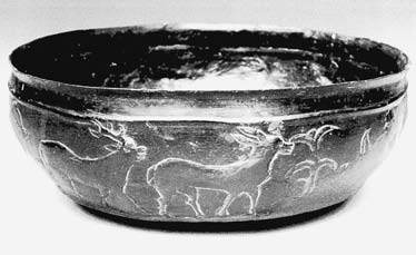 Salzburg, grave 137, bronze bowl with repoussé frieze, diameter 128 mm (photo: Alfons Coreth). Obr. 11. Bad Dürrnberg bei Hallein, Ld.