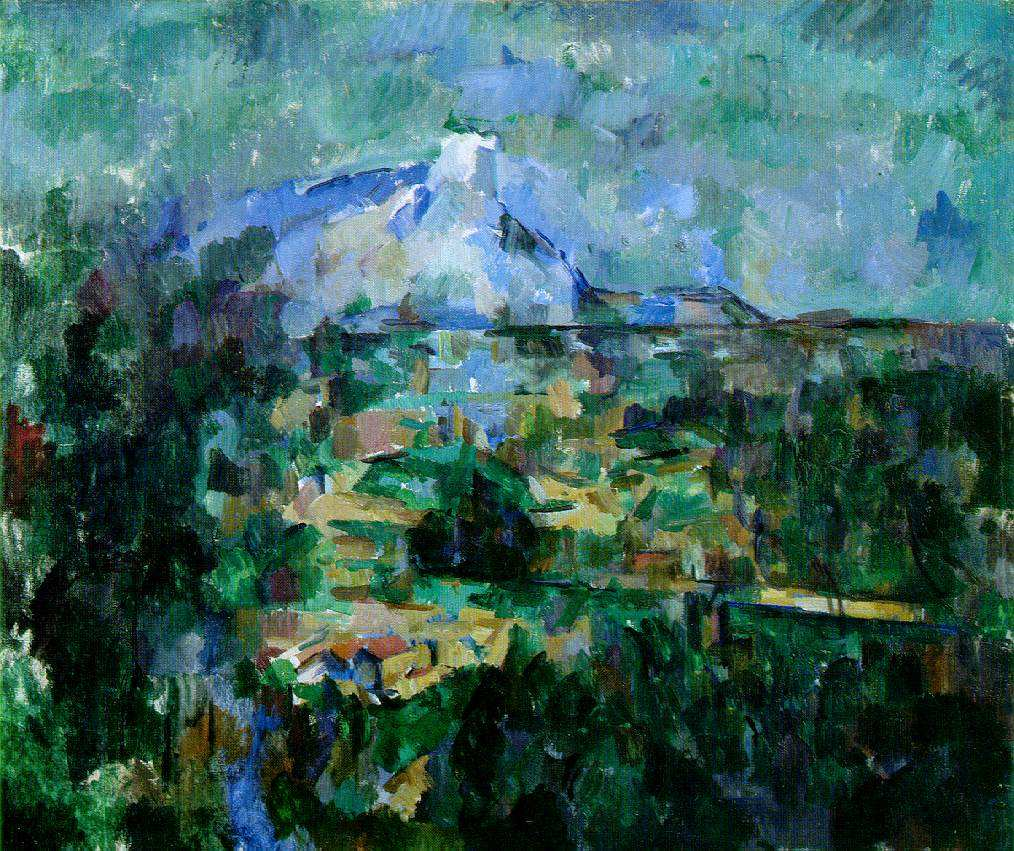 Paul Cézanne Mont Sainte-Victoire Seen from Les Lauves (Le Mont Sainte-Victoire vu des Lauves) 1904-06 Oil on canvas 23 5/8 x 28 3/8 in (60 X 72 cm) Kunstmuseum, Basel Nesnažím se vykládat Cézanna a