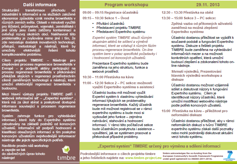 5. Informace o workshopu