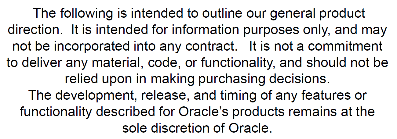 15 Copyright 2012, Oracle and/or