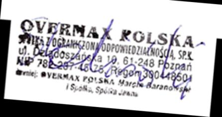 Declaration of Conformity We, the undersigned: Manufacturer: Address, City: Country: Overmax Polska Spółka z Ograniczoną Odpowiedzialnością, S.K. ul.