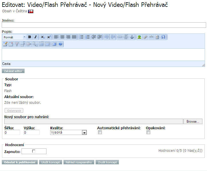 Úvod do ez Publish EZ Publish podporuje Flash Video, WMA, Microsoft Silverlight a videa linkovaná z Youtube nebo Vimeo. Používání Videa Video soubory jsou rozšířené po celém Internetu.