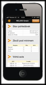 Architektura HELIOS Green / Helios Mini / HELIOS Mobile DMZ WEB SERVICE Win klient HELIOS Green LAN Internet