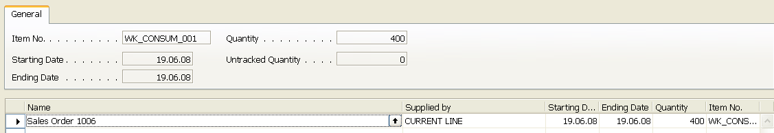 Suggested replenishment using standard Requisition
