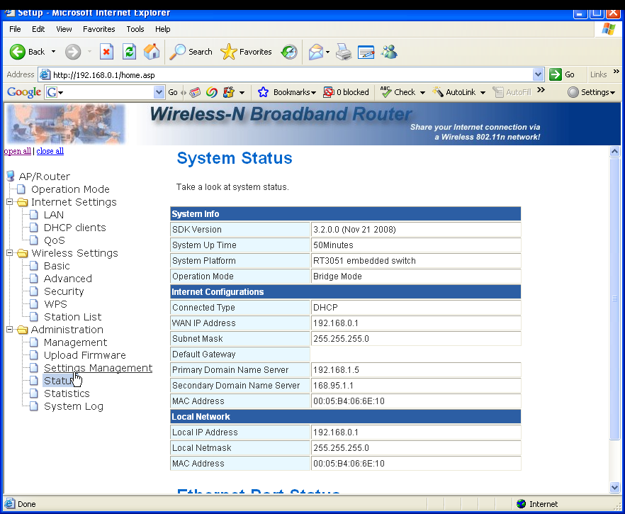 3.7.4 System Status You can check the device status in this page,