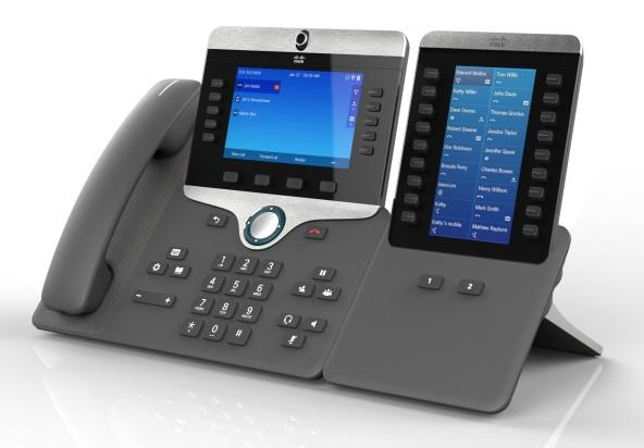 CISCO IP PHONES 8800 SERIES Coming Soon Features Standalone Video IP Phone Fixed Angle LCD for better video experience Updated Futurama ID 5 WVGA (Near HD) 720p, H.