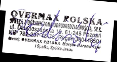 We, the undersigned: Manufacturer: Address, City: Country: Declare the following apparatus: Products name: Brand and Model name: Declaration of Conformity Overmax Polska Spółka z Ograniczoną