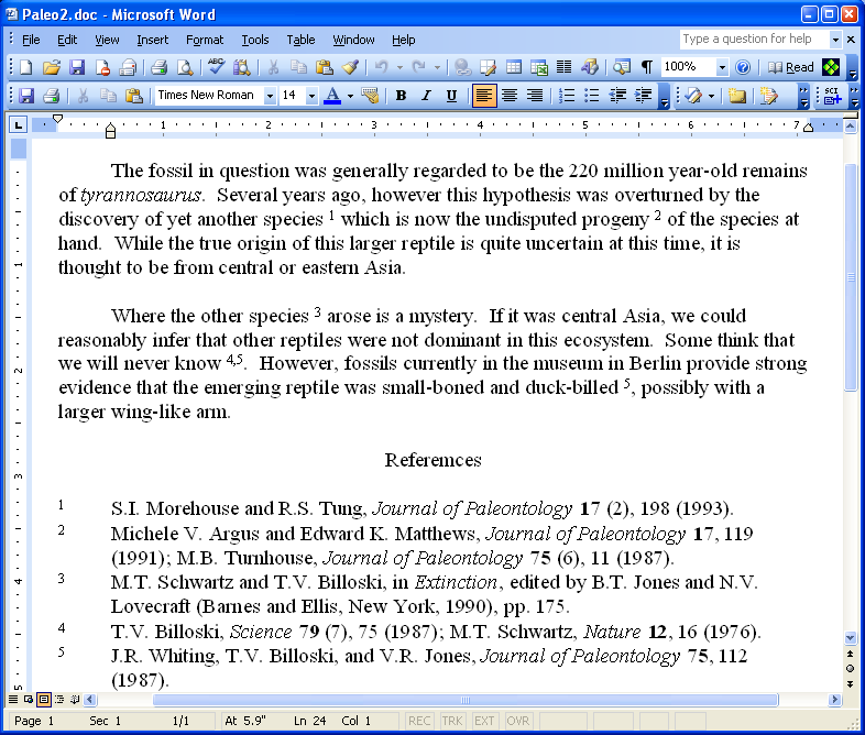 Cite While You Write References The Cite While You Write feature will allow one to utilize both EndNote Web and