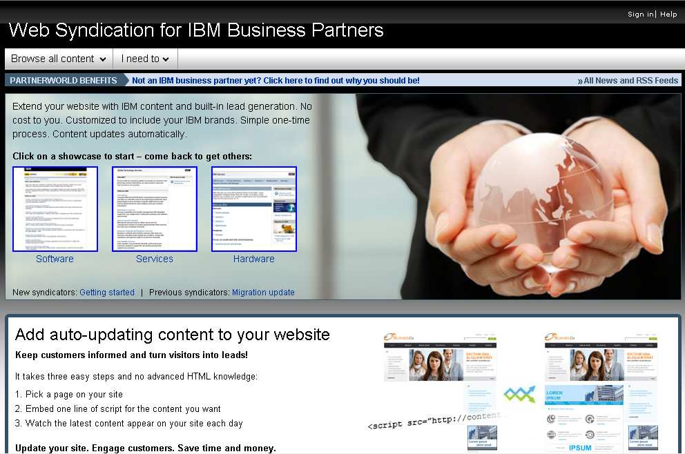 IBM Web Content Syndication www.ibm.