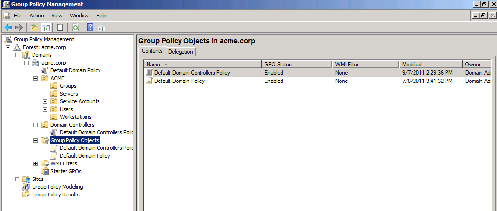 - Administrative Tools Group Policy Management (gpmc.