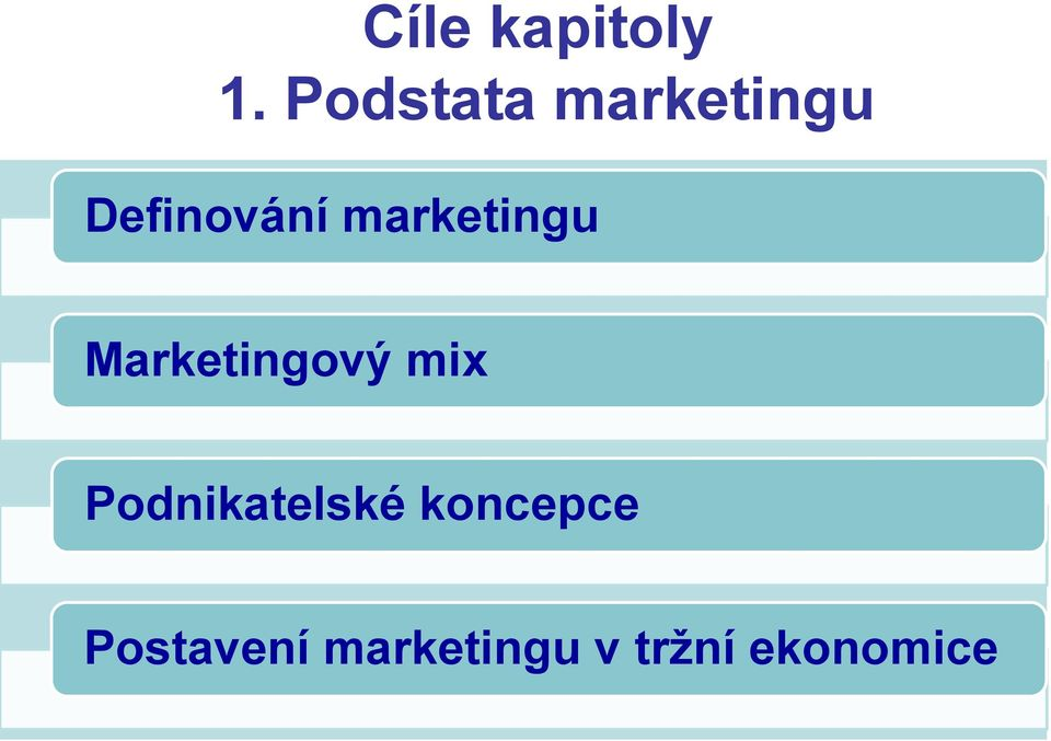 marketingu Marketingový mix