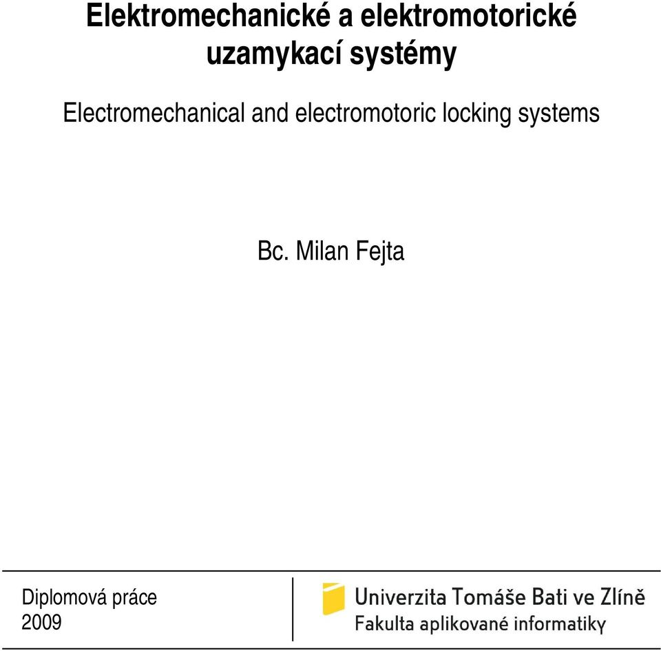 Electromechanical and