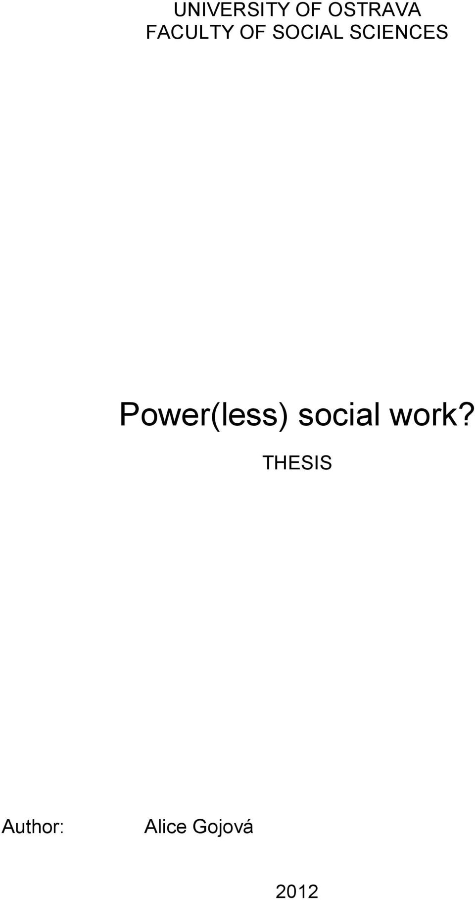 Phd social work thesis