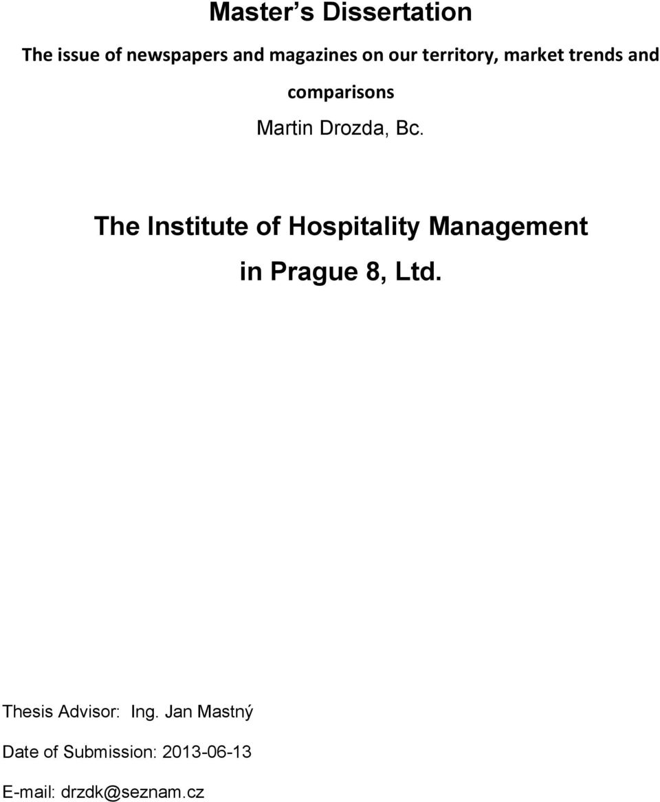 The Institute of Hospitality Management in Prague 8, Ltd.
