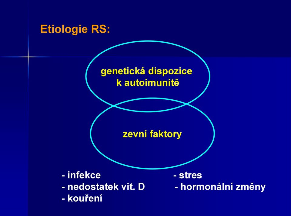 faktory - infekce - stres -