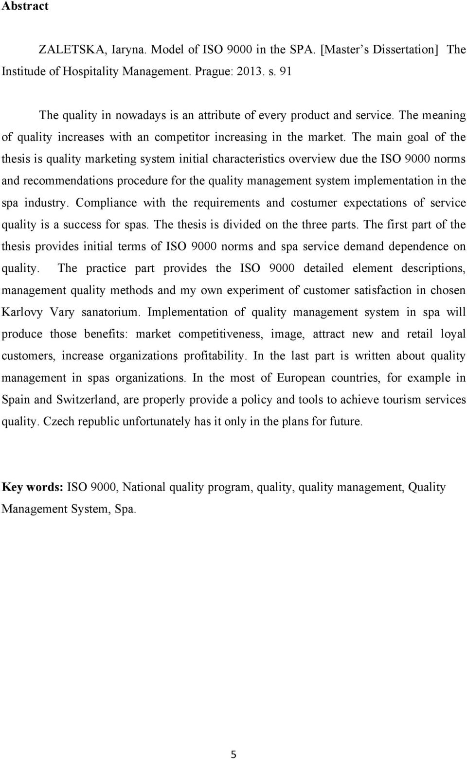 Dissertation service quality management