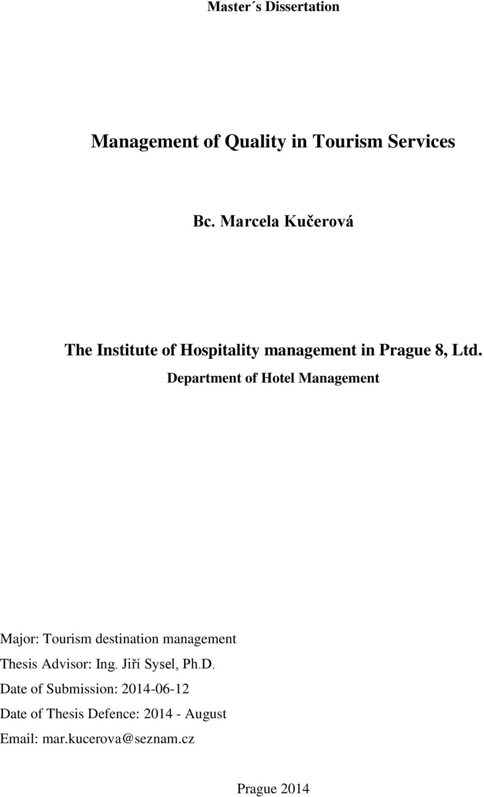 thesis about hotel services