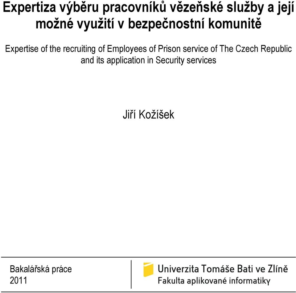 of Employees of Prison service of The Czech Republic and its