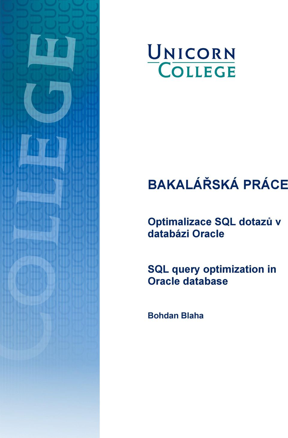 databázi Oracle SQL query