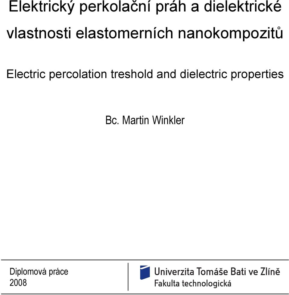 Electric percolation treshold and