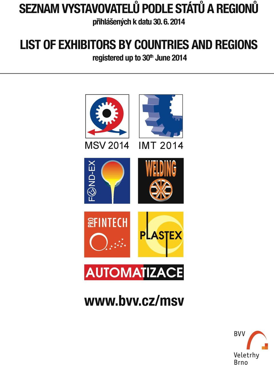 2014 list of exhibitors by countries and regions