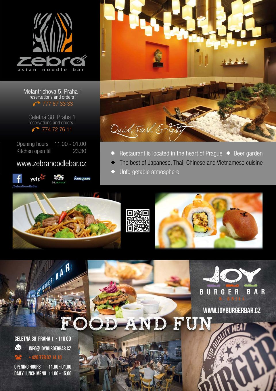 cz Restaurant is located in the heart of Prague Beer garden The best of Japanese, Thai, Chinese and Vietnamese cuisine