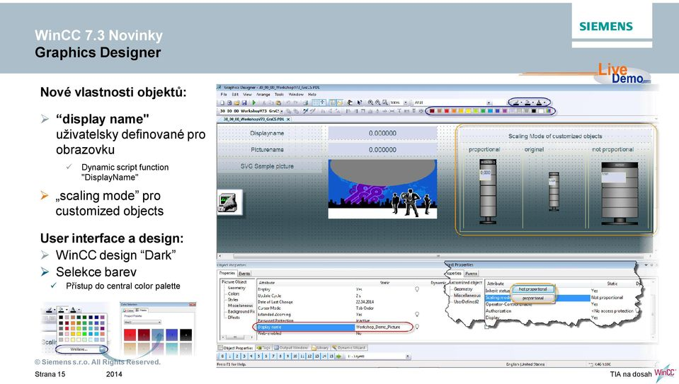 """DisplayName"" scaling mode pro customized objects User interface a"