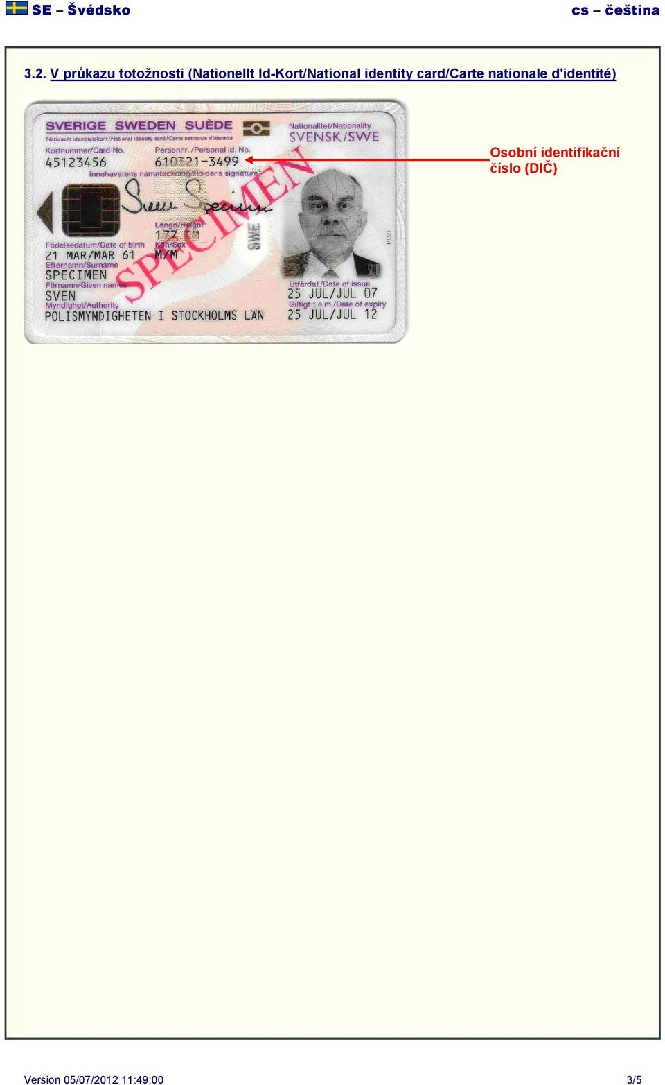 identity card/carte nationale