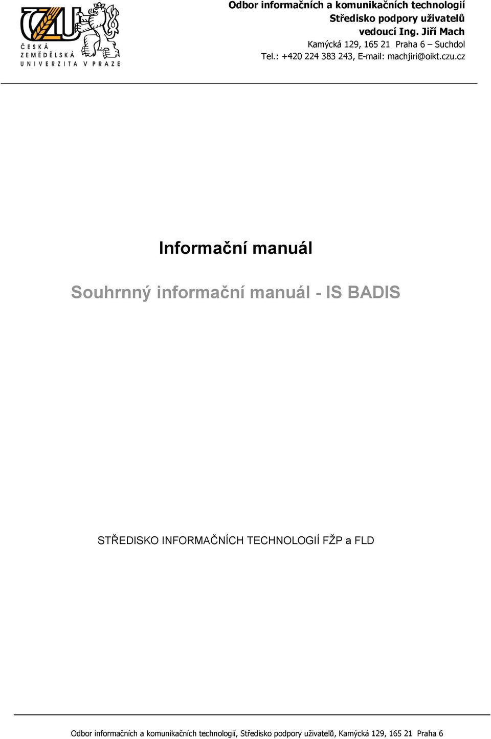 manuál - IS BADIS