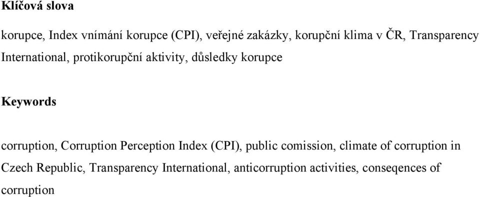 corruption, Corruption Perception Index (CPI), public comission, climate of corruption