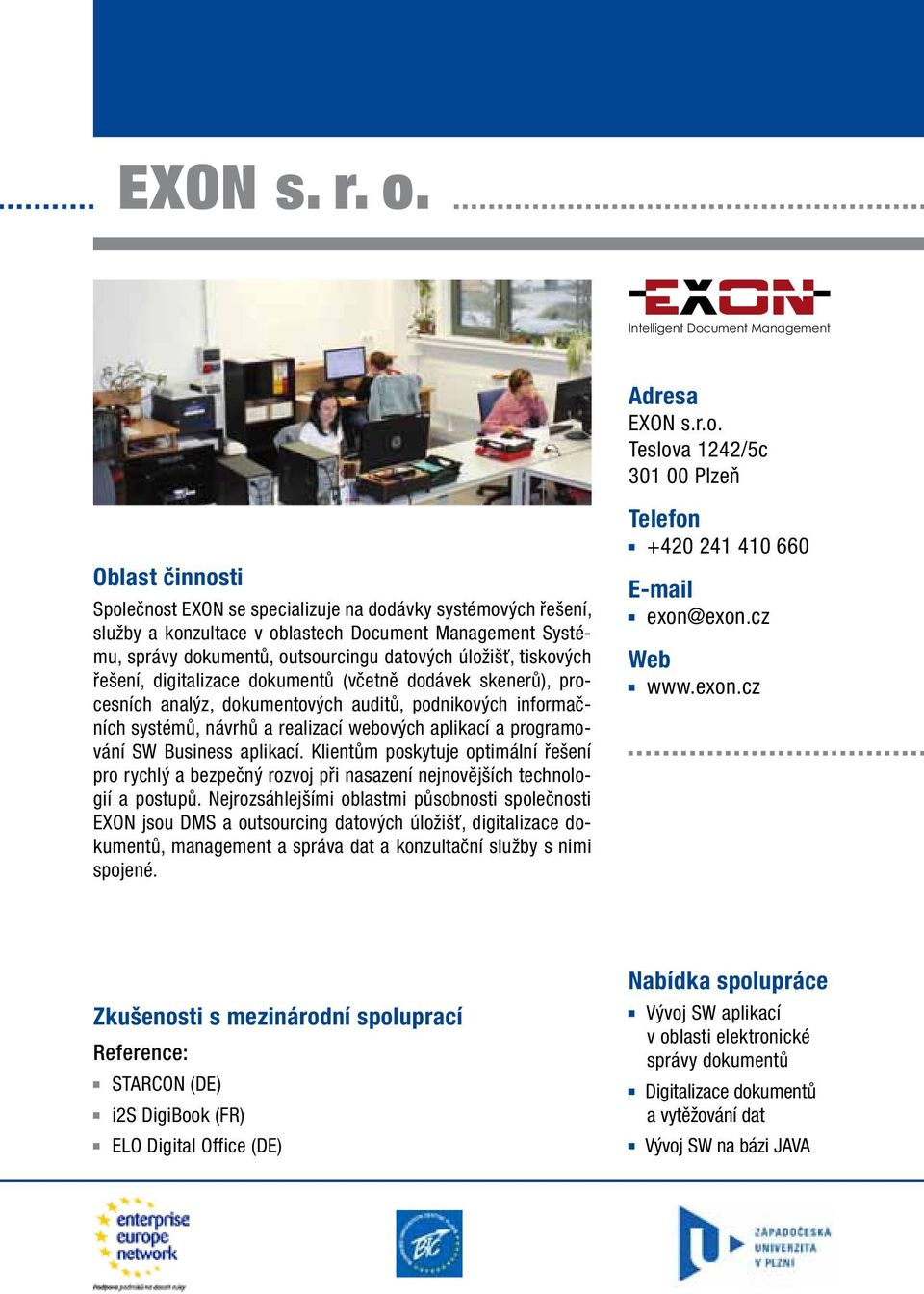 ument Management Adresa EXON s.r.o.