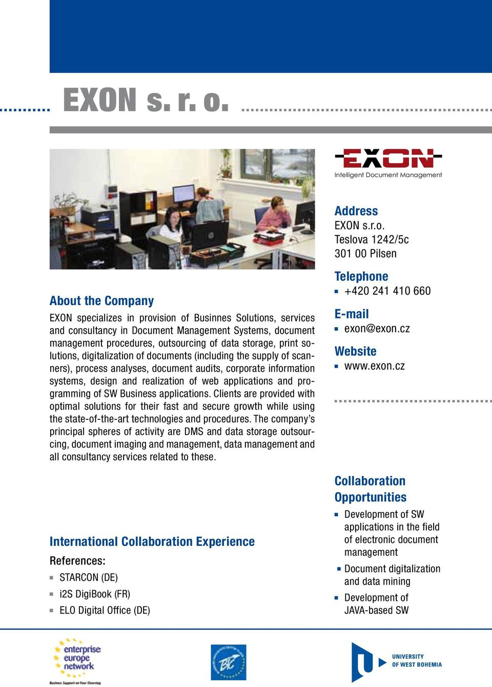 ument Management Address EXON s.r.o.