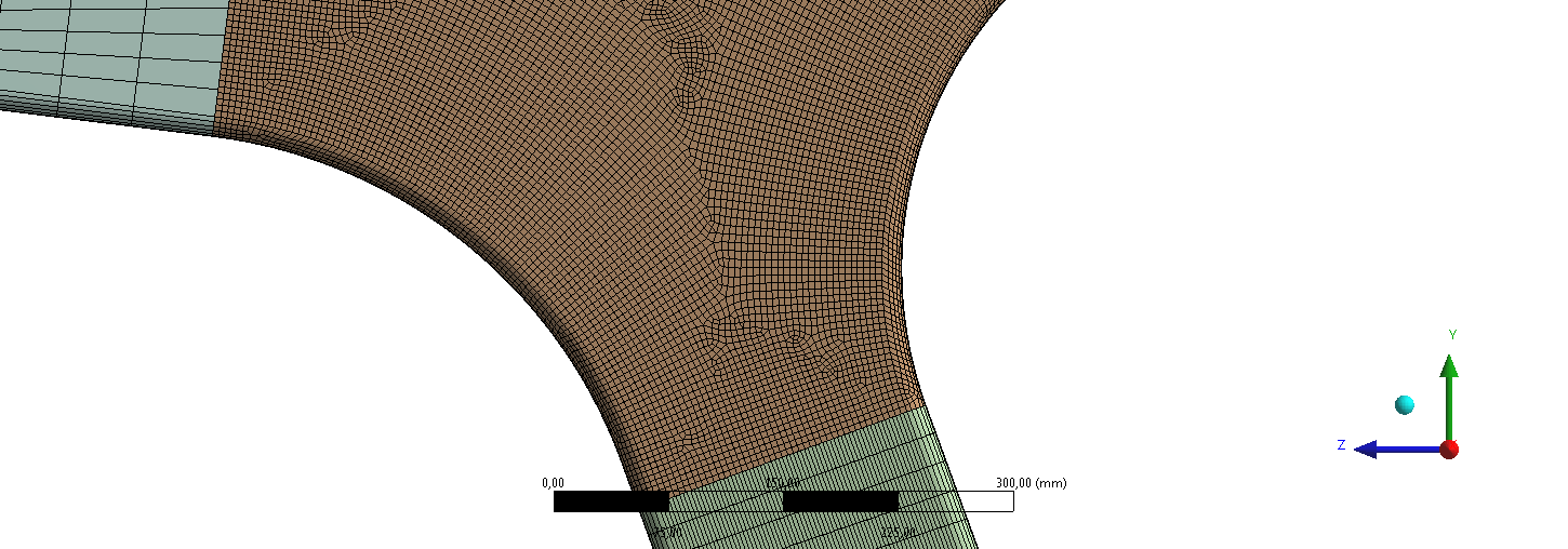 Image 26 Detail of the construction s mesh 4 Boundary conditions of the model and solution process The analysis was performed in ANSYS Workbench environment as one-way coupled CFD structural analysis.