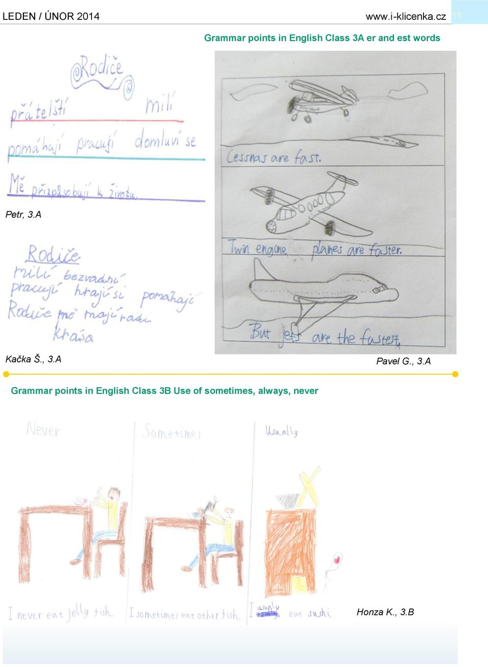 , 3.A Grammar points in English Class 3B