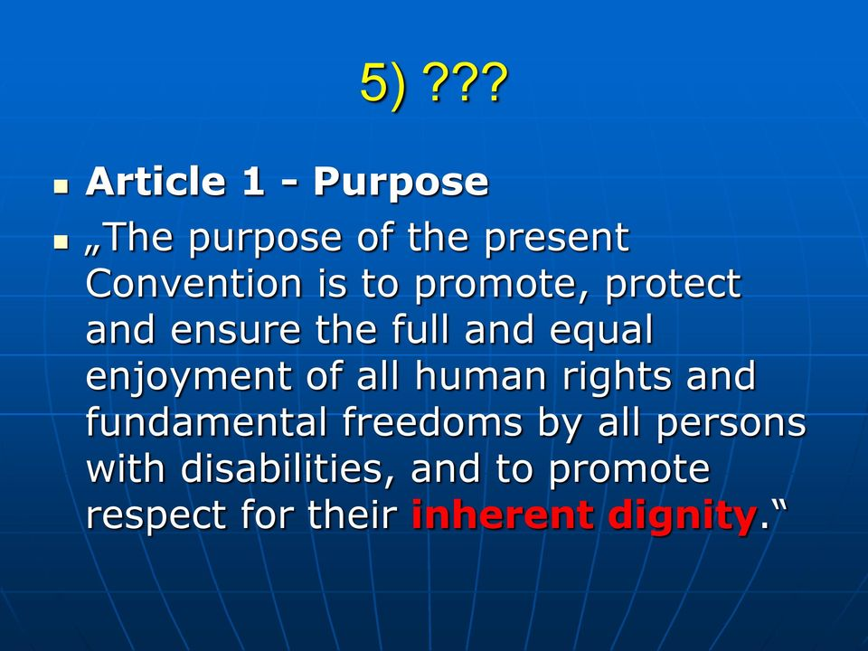 of all human rights and fundamental freedoms by all persons