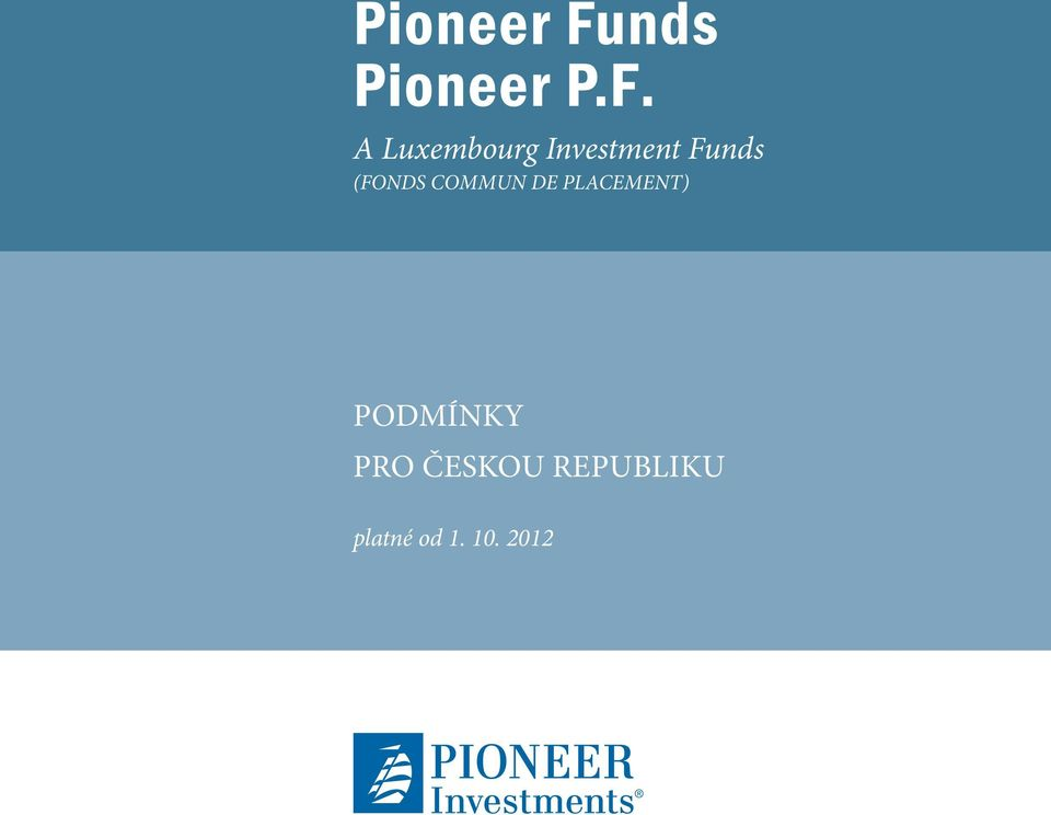 A Luxembourg Investment Funds