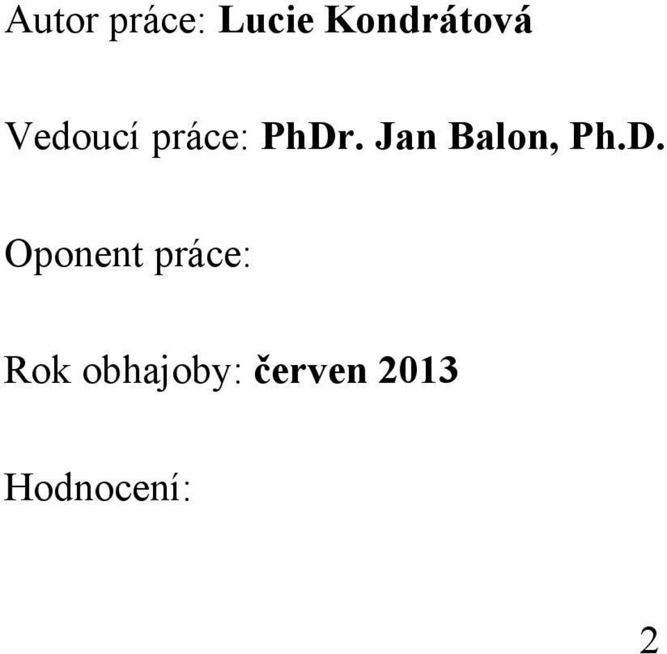 Jan Balon, Ph.D.