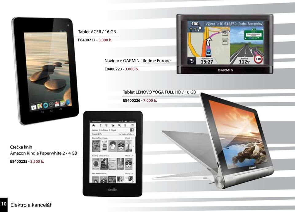 Tablet LENOVO YOGA FULL HD / 16 GB E8400226-7.000 b.