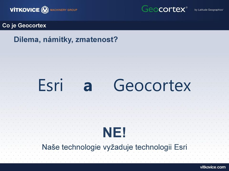 Esri a Geocortex NE!