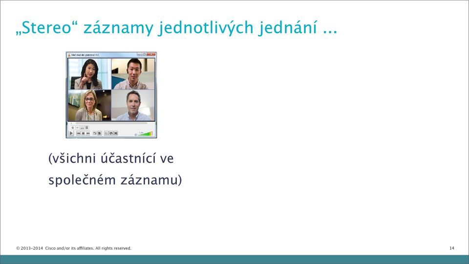 záznamu) 2013-2014 Cisco and/or its