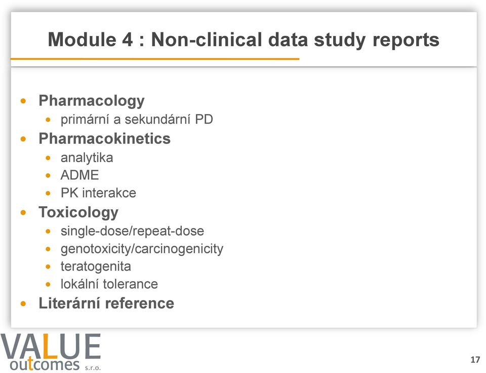 interakce Toxicology single-dose/repeat-dose