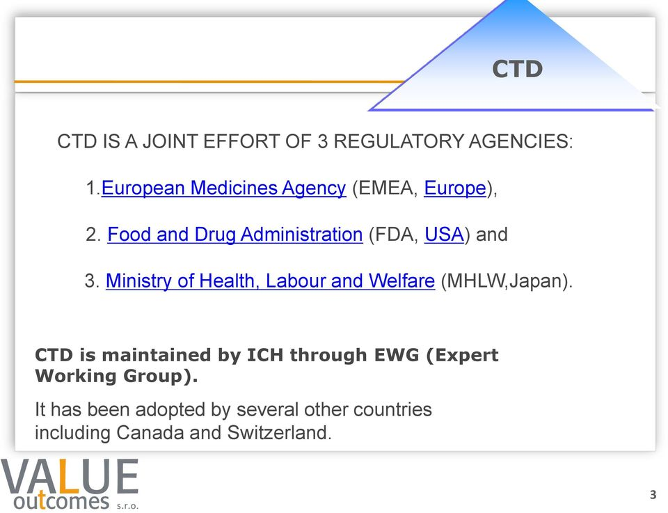 Food and Drug Administration (FDA, USA) and 3.