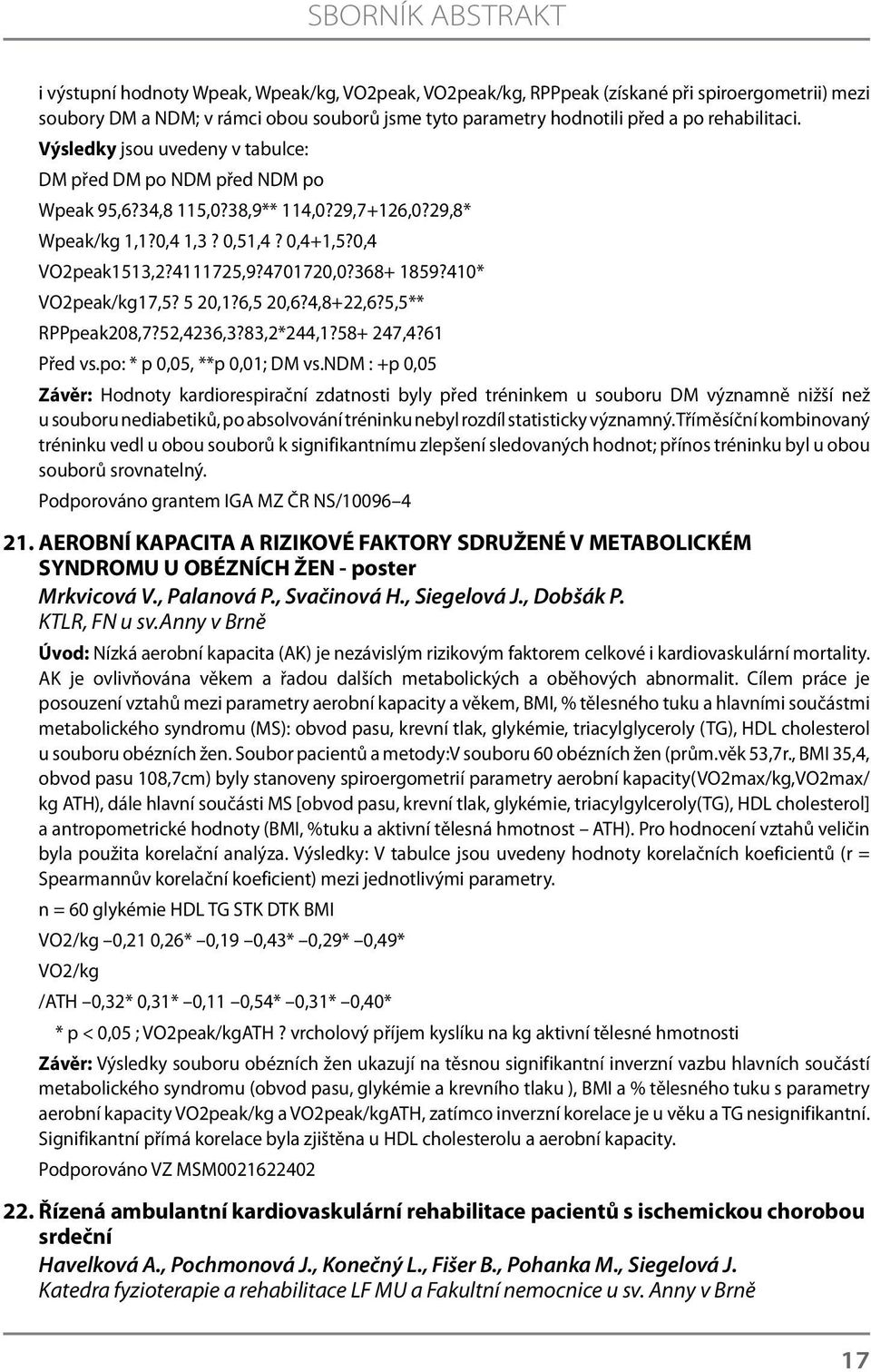 4701720,0?368+ 1859?410* VO2peak/kg17,5? 5 20,1?6,5 20,6?4,8+22,6?5,5** RPPpeak208,7?52,4236,3?83,2*244,1?58+ 247,4?61 Před vs.po: * p 0,05, **p 0,01; DM vs.