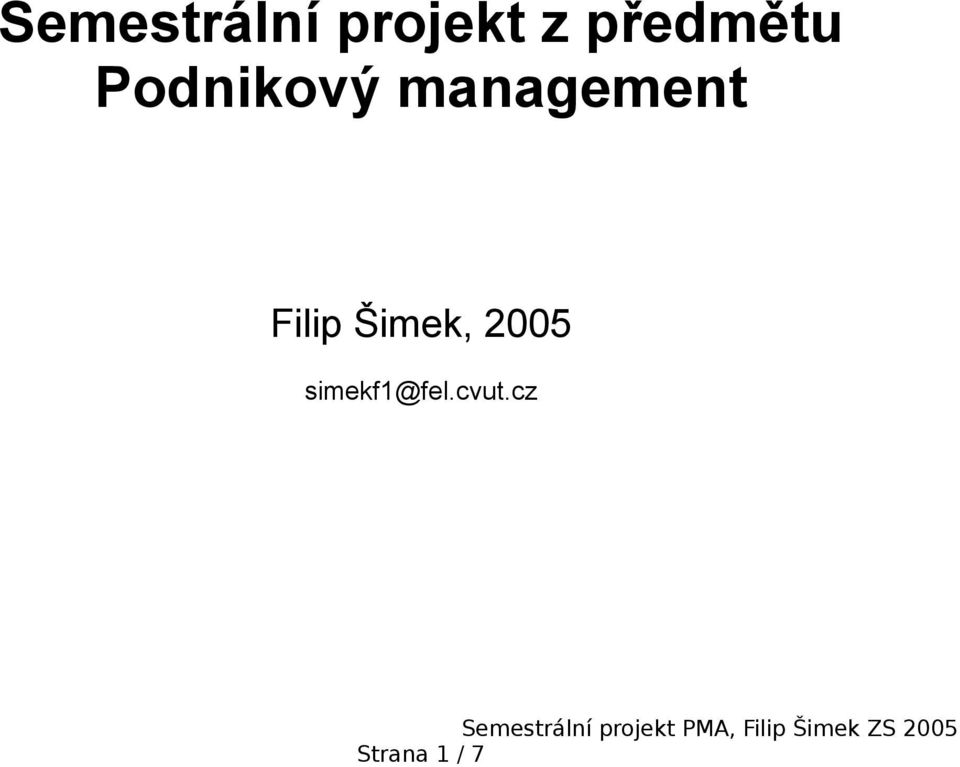 management Filip Šimek,