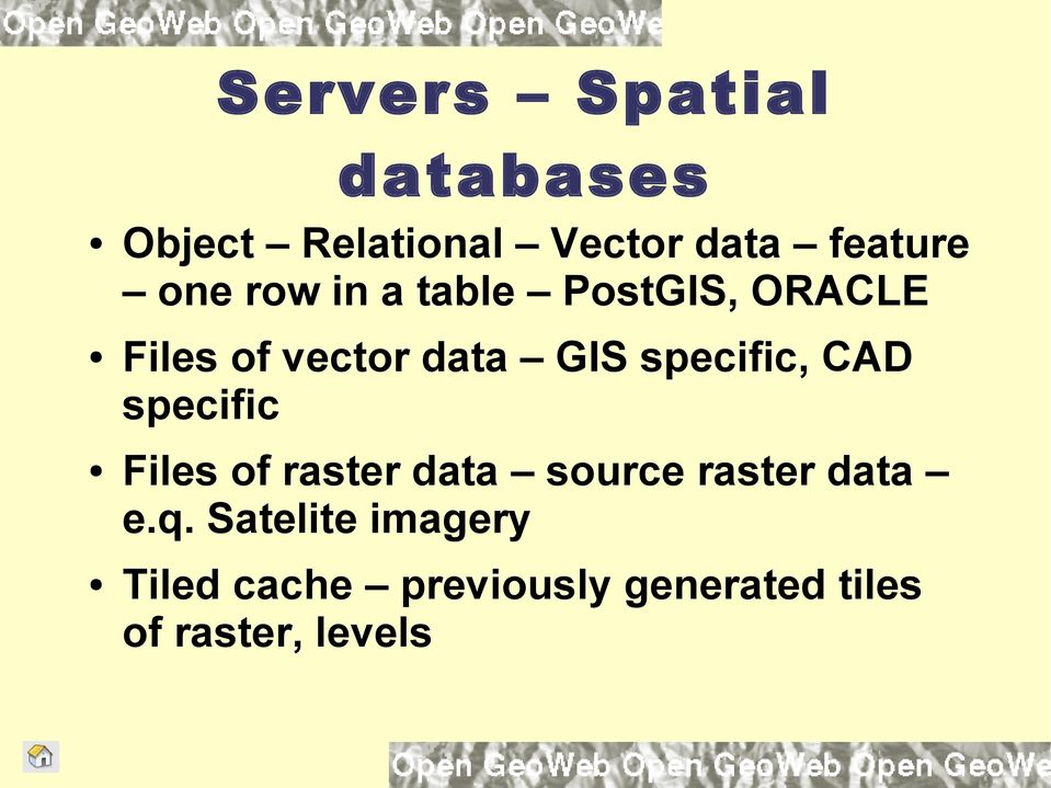 specific, CAD specific Files of raster data source raster data e.q.