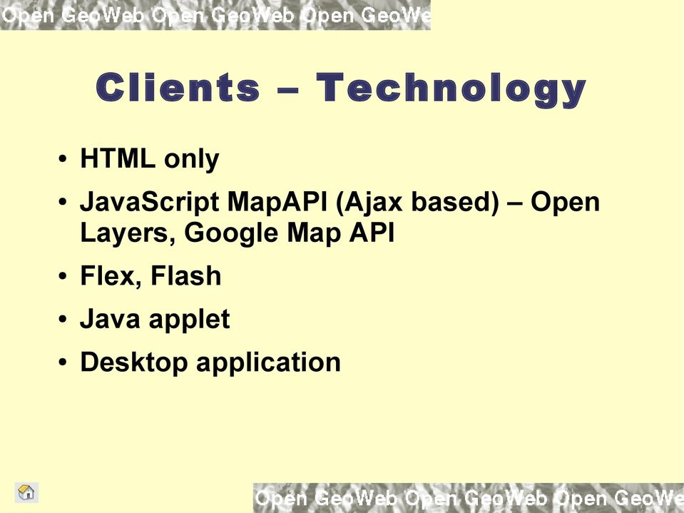 Open Layers, Google Map API